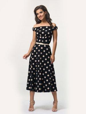 Платье черное в горошек | 4388478