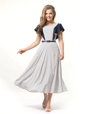 Сукня молочного кольору в горошок | 4389327