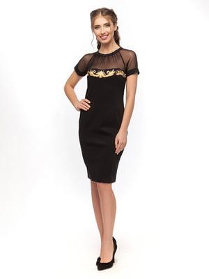 Сукня чорна з вишивкою | 4389575