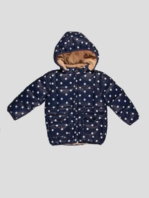 Куртка темно-синя в горошок | 4386289
