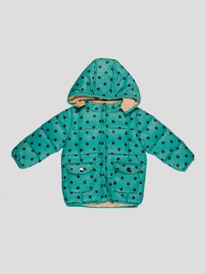 Куртка зелена в горошок | 4386292