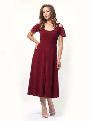 Платье бордовое | 4394676