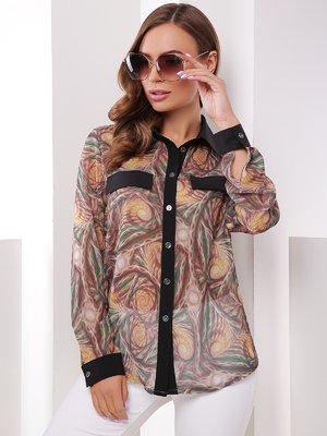 Рубашка абстрактной расцветки | 4395085