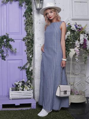 Платье синее в полоску | 4398804