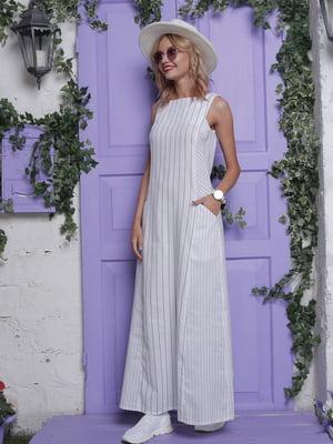 Платье белое в полоску | 4398819
