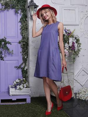 Платье синее в горошек   4398826