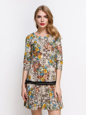Сукня комбінованого забарвлення | 4392742