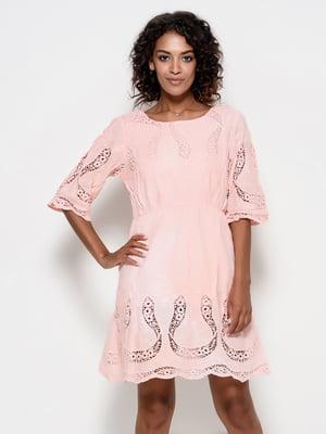 Платье персикового цвета | 4398927