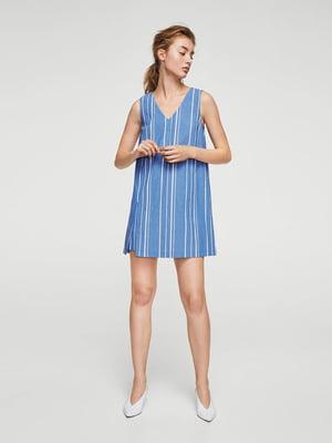 Платье синее в полоску | 4009437