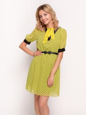 Сукня жовта в горошок | 4392818