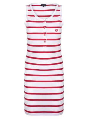 Сукня біла в червону смужку | 4403579