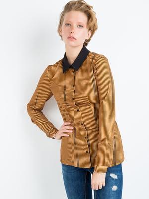Рубашка коричневая | 4403339