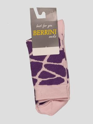 Носки двухцветные в рисунок | 4398771