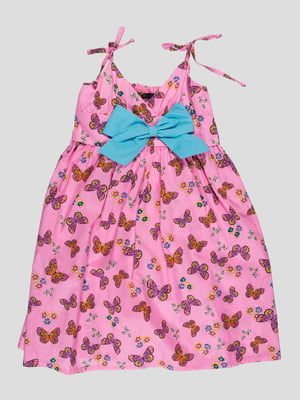 Платье розовое в принт   1692996