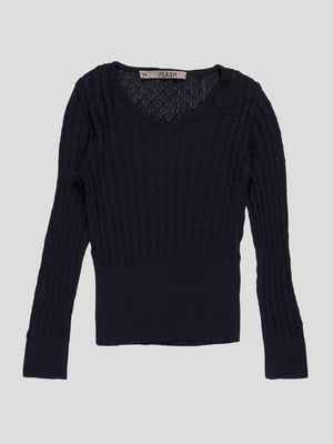 Пуловер темно-синій | 4397350