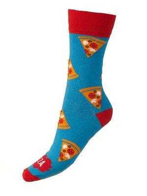 Носки голубые с принтом | 4408450