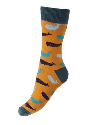 Носки оранжевые с принтом | 4408456