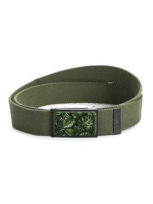Ремень-стропа зеленый с принтом   4410385