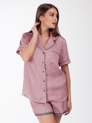 Рубашка в принт | 4409890