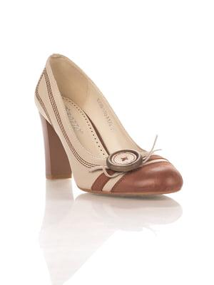 Туфли бежево-коричневые | 4408905