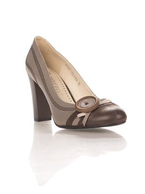 Туфли серо-коричневые | 4408906