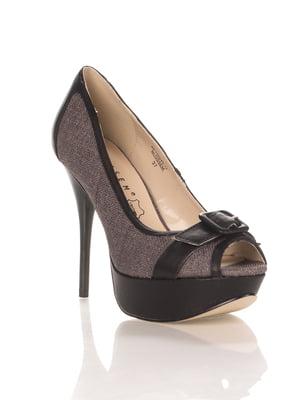 Туфлі сіро-чорні | 4408898