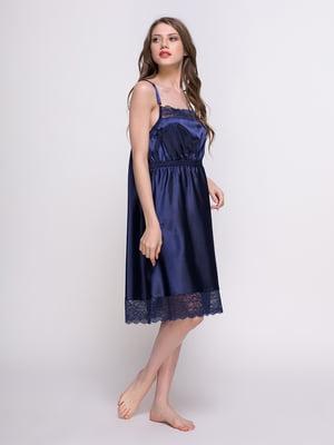 Сорочка нічна синя | 4399912