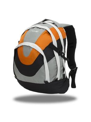 Рюкзак помаранчево-сірий | 4409522
