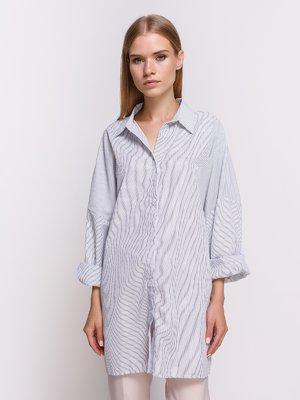 Сорочка біла в смужку   4403512