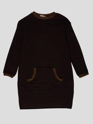 Туніка темно-коричнева | 4397269