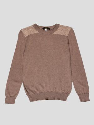 Джемпер коричневый с зигзагами | 4397399