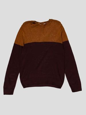 Джемпер коричнево-фиолетовый | 4397170