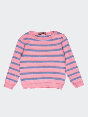 Джемпер розово-голубой в полоску | 4397199