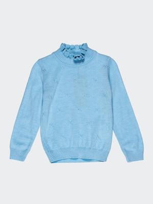 Свитер голубой с рисунком | 1800752