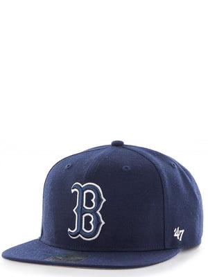 Бейсболка темно-синяя с вышивкой | 4411870