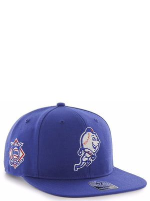 Бейсболка синяя с вышивкой | 4411872