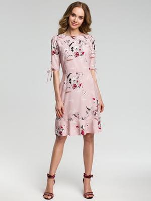 Сукня рожева в квітковий принт | 4418078