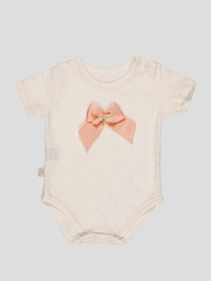 Боді-футболка персикового кольору | 4400008
