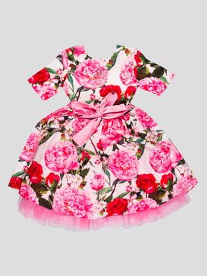 Сукня рожева у квітковий принт | 4413051
