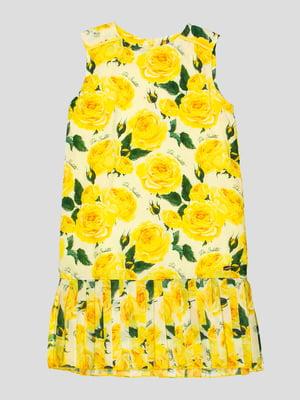 Сукня жовта в квітковий принт   4413046