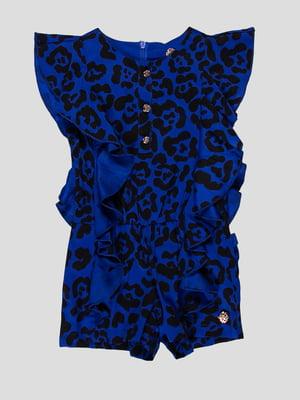 Сукня-комбінезон анімалістичного забарвлення | 4413056
