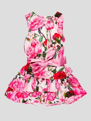 Сукня рожева у квітковий принт | 4413049
