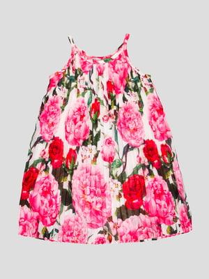 Сукня рожева у квітковий принт | 4413050