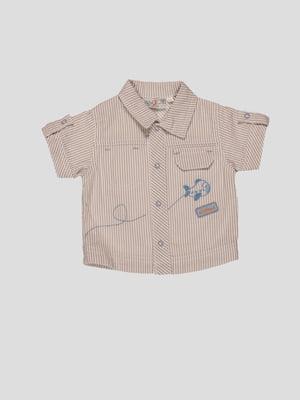 Сорочка в смужку з вишивкою | 4397720