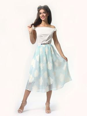 Платье молочно-голубого цвета   4418801