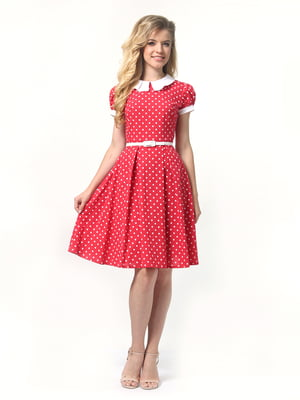 Сукня червона в горошок | 4418827