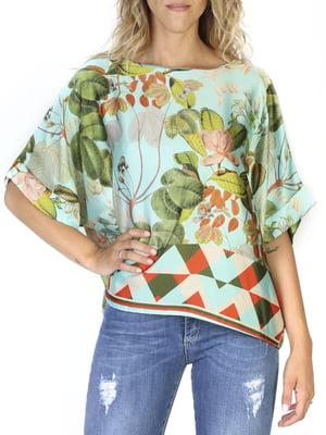 Блуза в квітковий принт | 4391560