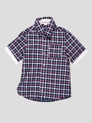 Рубашка сине-белая в клетку | 4397524