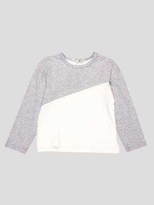 Джемпер біло-сірий | 4397206