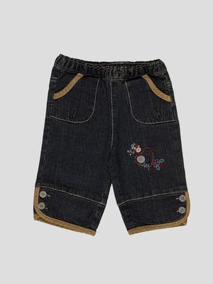 Джинси темно-сині з вишивкою | 41290